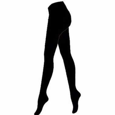 Voordelige panty/maillot zwart voor dames