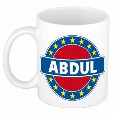 Voornaam abdul koffie/thee mok of beker