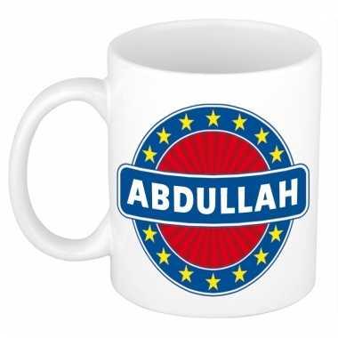 Voornaam abdullah koffie/thee mok of beker