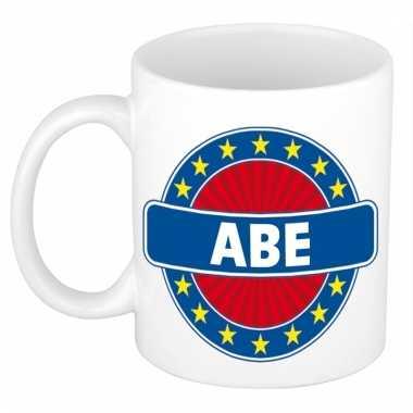 Voornaam abe koffie/thee mok of beker