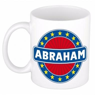 Voornaam abraham koffie/thee mok of beker