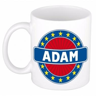 Voornaam adam koffie/thee mok of beker