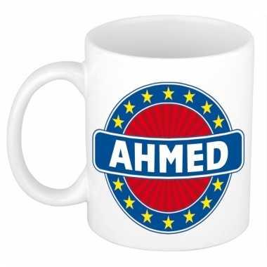 Voornaam ahmed koffie/thee mok of beker