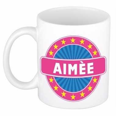 Voornaam aim?e koffie/thee mok of beker