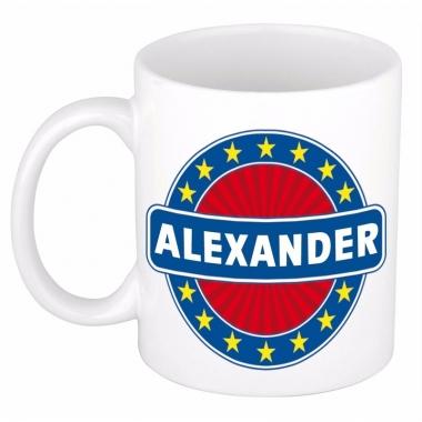 Voornaam alexander koffie/thee mok of beker