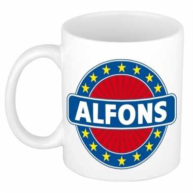 Voornaam alfons koffie/thee mok of beker