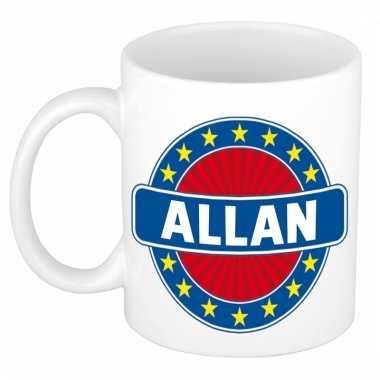 Voornaam allan koffie/thee mok of beker