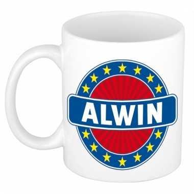 Voornaam alwin koffie/thee mok of beker