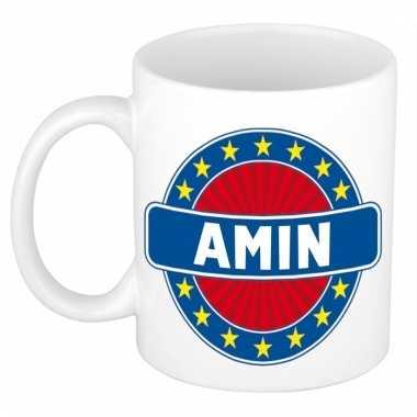 Voornaam amin koffie/thee mok of beker