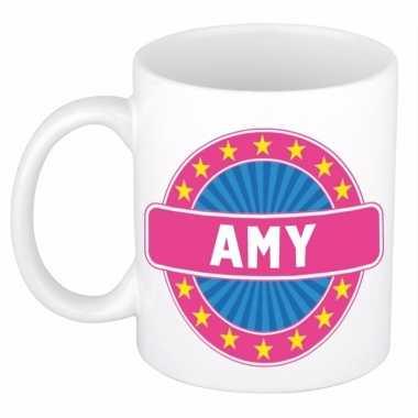 Voornaam amy koffie/thee mok of beker