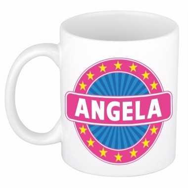 Voornaam angela koffie/thee mok of beker
