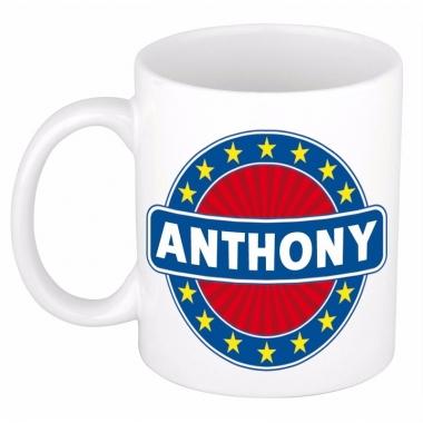 Voornaam anthony koffie/thee mok of beker