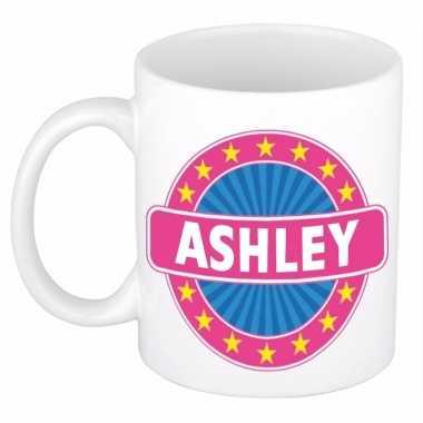 Voornaam ashley koffie/thee mok of beker