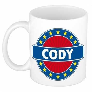 Voornaam cody koffie/thee mok of beker