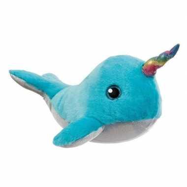 Walvissen knuffels blauw 30 cm knuffeldieren