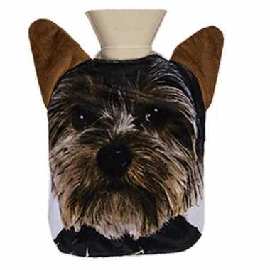 Warm water kruik 0,7 liter met yorkshire terrier honden print