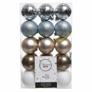 Warm winter kerstballen set 6 cm