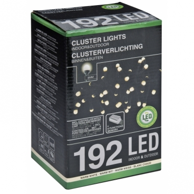 Warm witte clusterverlichting 192 led