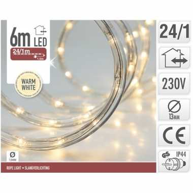 Warm witte led slangverlichting 6 meter