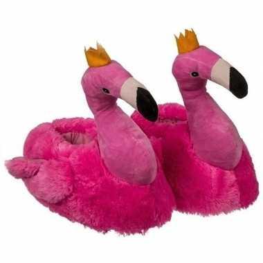 Warme flamingo pantoffels voor kinderen