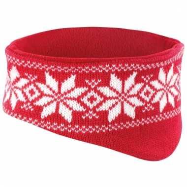 Warme haarband nordic rood