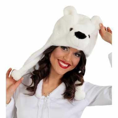Warme ijsbeer muts voor volwassenen