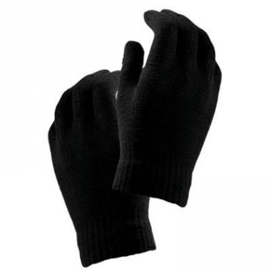 Warme kinder handschoenen zwart