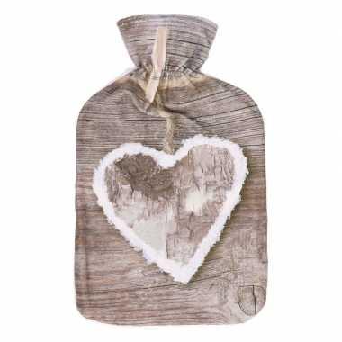 Warme kruik met hart 34 cm