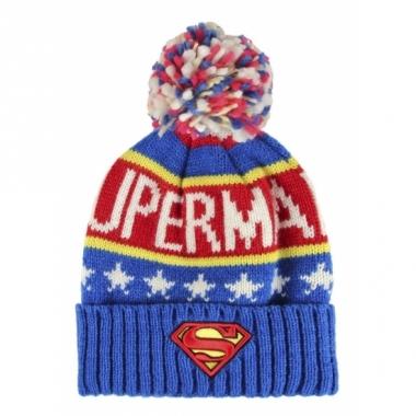 Warme wintermuts superman voor kids