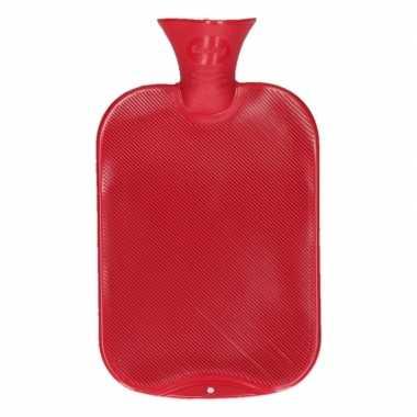 Warmtekruik rood 2 liter