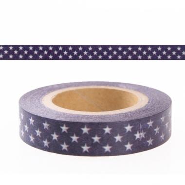 Washi plakband blauw met sterren