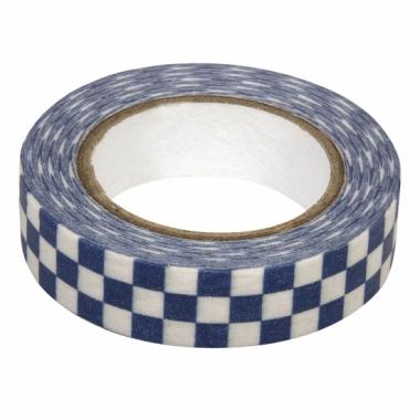 Washi plakband blauwe blokjes