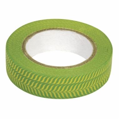 Washi plakband visgraat groen