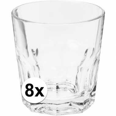 Water glazen 8 stuks