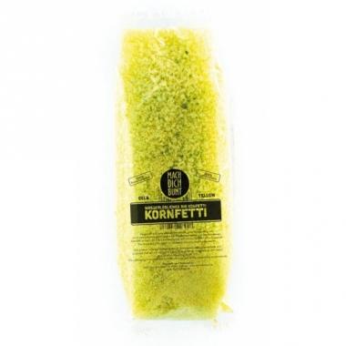 Water oplosbare confetti geel