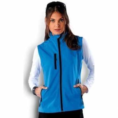 Waterdichte sport bodywarmers blauw voor dames
