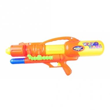 Waterschieter oranje pistool met pomp