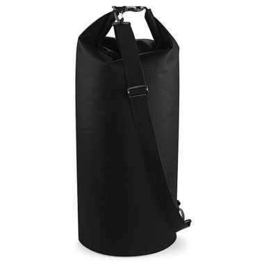 Watersport tas drytube 60 liter zwart 30 x 70 cm