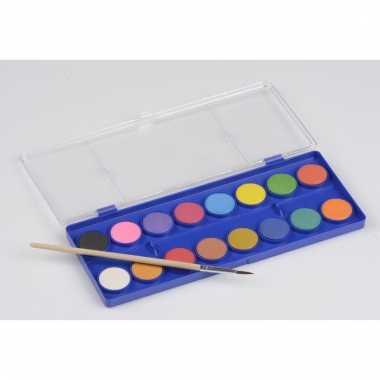 Waterverfpalet voor kinderen 16 kleuren