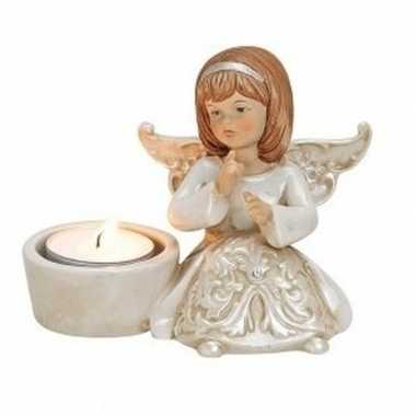 Waxinelicht houder engel type 2 12 cm