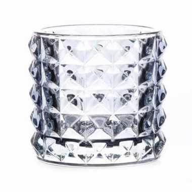 Waxinelichthouder lichtblauw glas lyon 10 cm