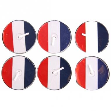 Waxinelichtjes rood wit blauw