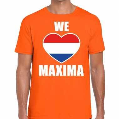 We hart maxima t-shirt oranje voor heren