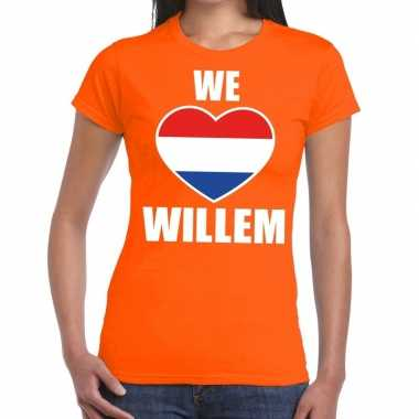 We love willem shirt oranje dames