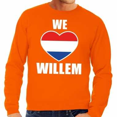 We love willem sweater oranje heren