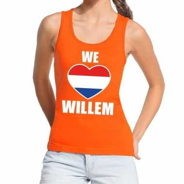 We love willem topje/shirt oranje dames