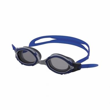 Wedstrijd zwembrillen donkere glazen volwassenen blauw