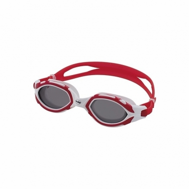 Wedstrijd zwembrillen donkere glazen volwassenen rood