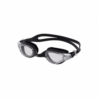 Wedstrijd zwembrillen voor volwassenen zwart