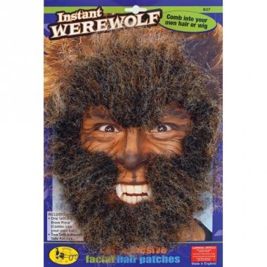 Weerwolf gezichts haar